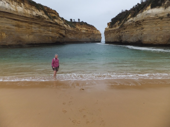 Feet in the Great Australian Bight
