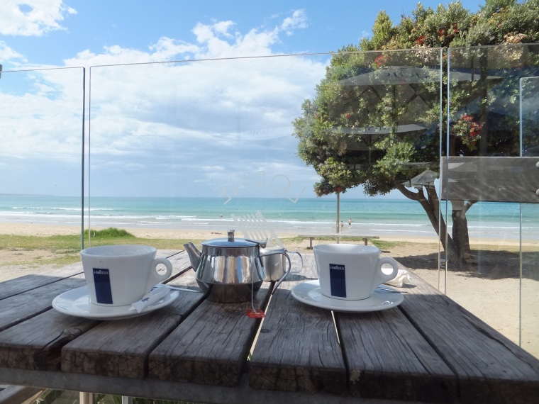 Tea for two by the beach at Lorne