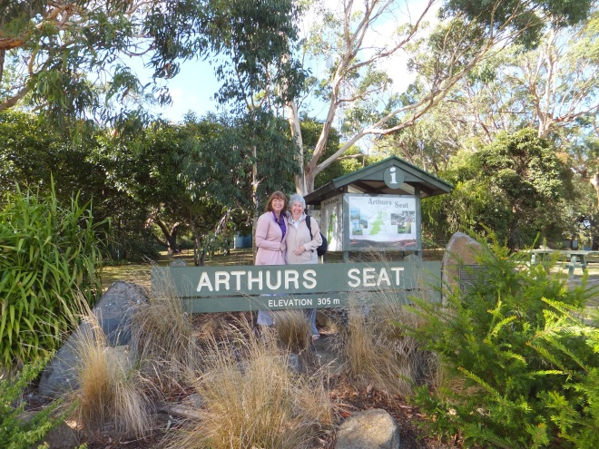 Arthur's Seat overlooking Melbourne with Chrissy our hostess.