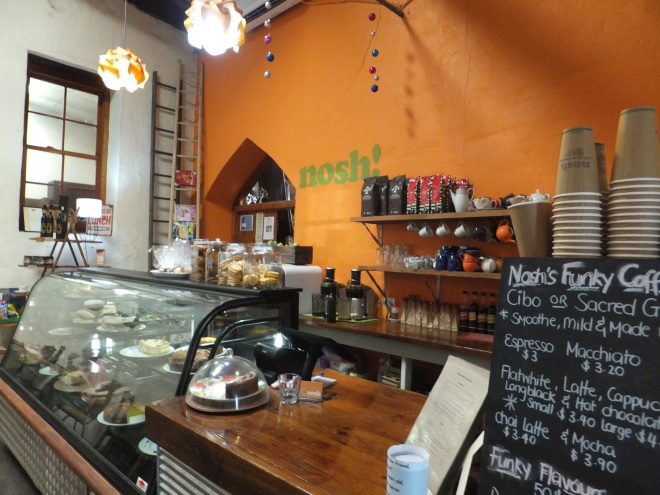 We took tea at Nosh a quirky little cafe in Tanunda