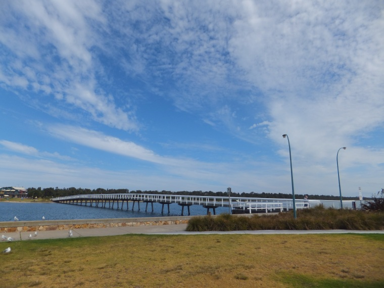 The bridge back to the mainland from Lakes Entrance