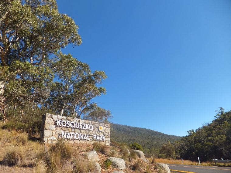 Entering the National Park