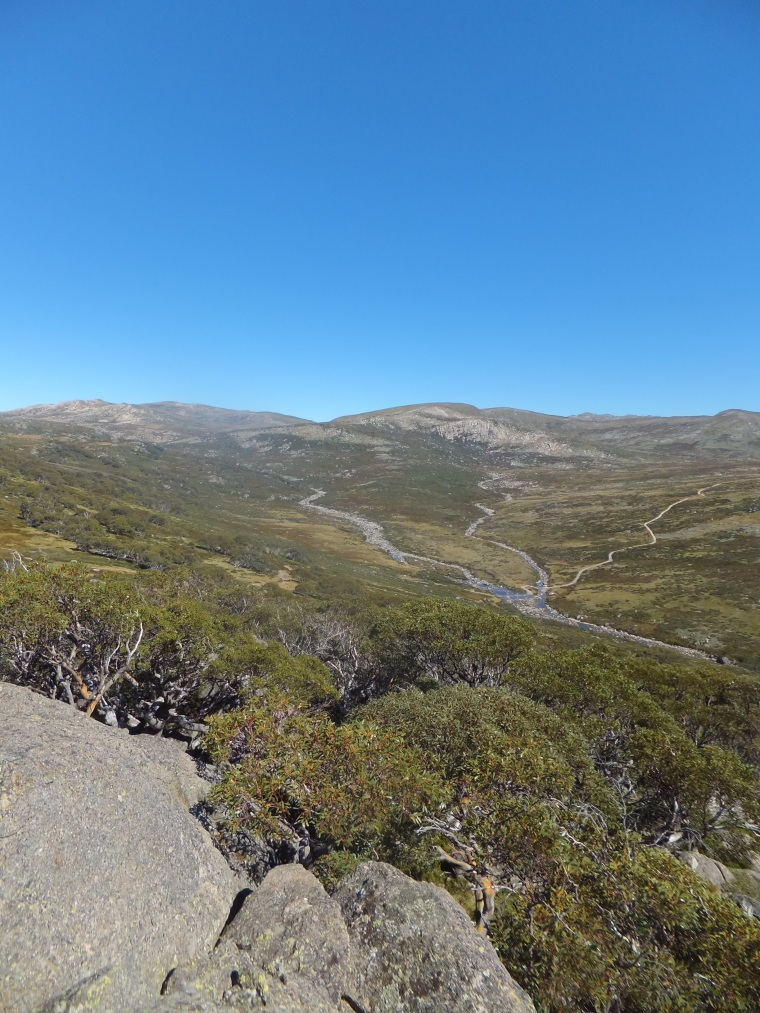 Mount Kosciuszko, Australia's highest peak at 2228 m (7310 ft) from Charlotte's Pass